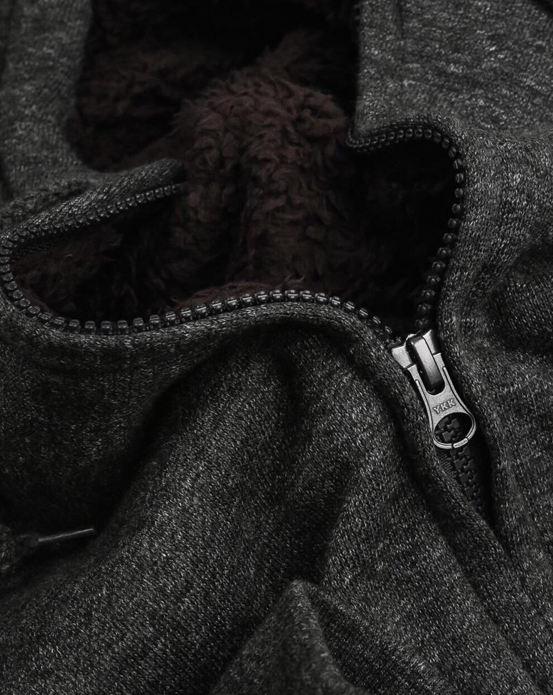 Áo khoác nỉ nam lót lông cừu