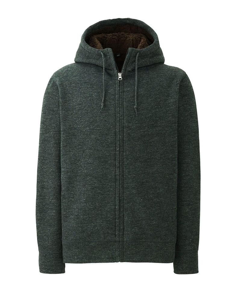 Áo khoác nam hoodie lông cừu Uniqlo