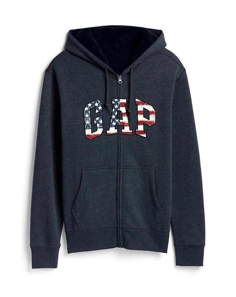 Áo khoác lông cừu Gap Sherpa-Lined Logo Full-Zip Hoodie
